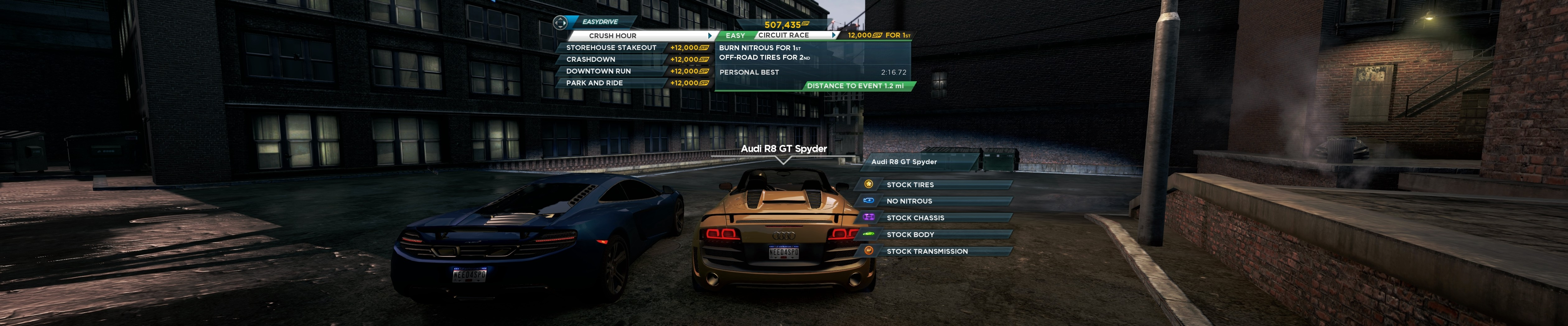 Need for Speed: Most Wanted (Triple Monitors / Eyefinity